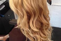 warm blond with highlights