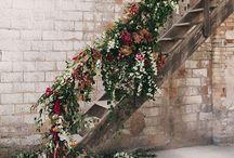 Stairway floral decor