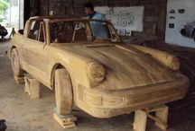 Wooden Car and motors