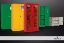 Warehouse Furniture / Our  INDUSTRIAL FURNITURE  is designed specifically to store, hardware store, tire and mechanical workshops, providing an answer to every need: cabinets, tool holders, containers, benches, trolleys, racks, cantilever, shelving and stairs.