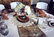 Tablescapes by Classic Catering & Events / Table arrangements and decor provided by Classic Catering & Events.