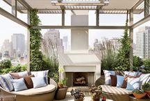 Terrace and roof garden