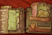 Mini Albums & Collection Folios / Mini albums and Tim Holtz collection folio projects / by Marjie Kemper Designs