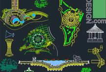landscape and park design 2D and 3D samples / collection of landscape architecture design, playground design and park design samples. Autocad drawins (2D & 3D)