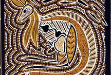 Year 3 Aboriginal art topic / Image examples of Aboriginal dot art and artifacts