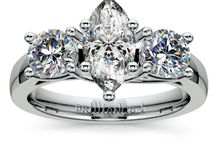 Marquise Diamond Rings Collection / Call Us Today: 866.737.0754 / by Brilliance.com