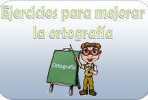 Ortografía / Colección de pines sobre teoría y práctica de la ortografía.