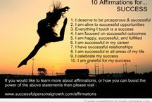 Affirmations for........ / A series of images with self-help affirmations for many areas of your life.