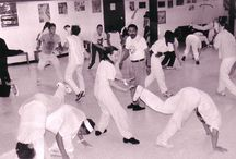 """Capoeira Angola / Capoeira is a martial art form that originated in the sixteenth century among slaves brought to Brazil from African nations such as Angola, Congo, and Guinea. The New World slave masters, anxious to keep their captives under their strict domination, imposed harsh prohibitions and restrictions on parent forms of capoeira, often referred to as """"N'golo""""."""