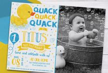 Rubber Duck Birthday Invitation