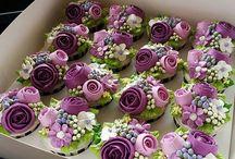 Цветочные кексы