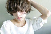 Short hair..
