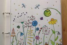 Mayne Illustrationen / Mayne Illustration mit Aquarell und gesammelte Augenblicke