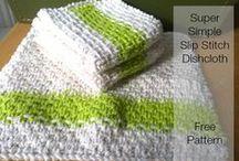 slip stitch dish cloth/love it