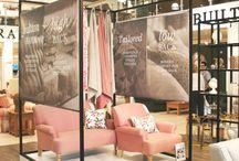 Work_comfort studio / retail interior visual merchandising colours interior indigo batik mirror