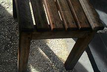 bangku kayu / untuk kumpulan bangku kayu panjang