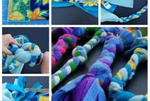 DIY for dogs / DIY for dogs beds, toys, bands, belts..| Tee koirallesi sänky, hihna, panta, lelu...