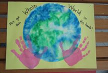 Infant / toddler Earth day art
