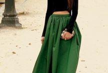 Faldas y crop top nice
