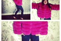 PINK POWER...pick your colour  by inukt.com / Dyed fox fur in fushia at inukt.com