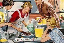 Amas de casa retro / mujeres retro.
