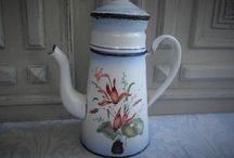 French Coffee Enamel Coffee Pots - Biggin