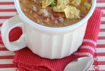 Recipes: Soups / A delicious bowl of soup can be so comforting. Tomato soup, chili, stew, vegetarian soups, all kinds of delicious soup recipes.