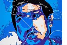 TOBY, THE BLUE CLOWN. Santimago Art by Santiago Vela