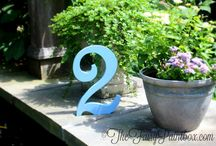 Blue Birthday, Blue Wedding, Blue Nursery Party Decor & Centerpieces