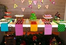 festas: bolos, mesas e decoração