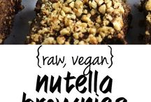 vegan nutella brownies