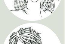 髪型のスケッチ