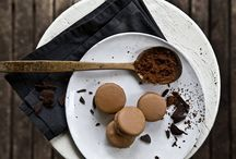 BITTER CHOCOLATE / Macaron with a 63% Bitter chocolate ganache. (photo:Dionisis Andrianopoulos, Styling: Anestis Michalis, Photographer assistant: Konstantina Statha)