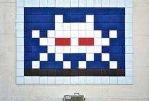 Space Invader street artist