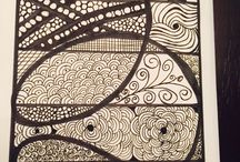 Zentangles / My own zen tangles... Inspiration from internet and everywhere
