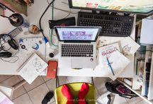 Bedarumica's workspace / backstage di un laboratorio dove fotografia, grafica e programmazione vivono in serenità in quei di Firenze  bedarumica's world  #fotografia #grafica #programmazione