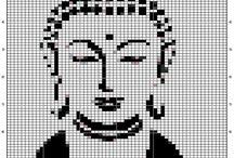 pixelhaken patroon