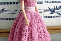 crochet barbie dresses