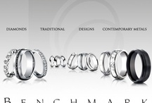 We Love Benchmark Rings! / Benchmark rings use innovative and beautiful designs and are great for the couples who eschew traditional materials.