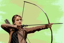 Favorable Hero / Katniss Everdeen #tracing #illustrator #arrow #archery