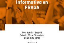 Carpas Informativas C's Fraga / Ciudadanos Fraga, agrupación de C's Aragón quiere acercarse a la ciudadanía a pie de calle, conocer sus inquietudes y sus reivindicaciones. Carpas Informativas y mesas informativas de nuestros proyectos para los ciudadanos