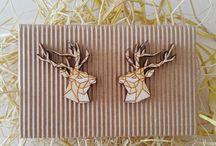 Kolczyki jelonki/ deer earrings:)