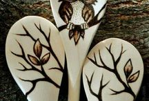 Pyrography for spoons