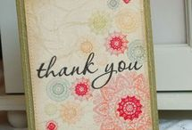 CaRd CrEaTiOn - Thank you's / by Sharon Ellis