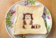 """CUTE TOAST ART – El desayuno kawaii / Japón comida kawaii: """"¡Arte lindo de la tostada""""."""