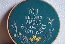 Embroidery Art with words and letters