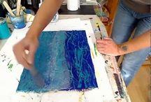 Pittura materica video
