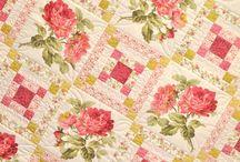 Rose and Square Quilt Block Quilt