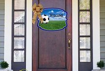 Sports Life / Shut The Front Door by Unique Textile Printing offers a variety of garden flags, door decor, welcome mats and more.  Check us out at www.uniquetextileprinting.us