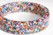 pulseiras em resina